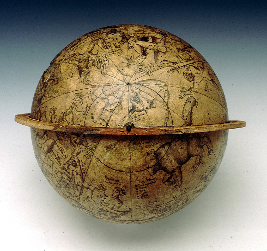 Detail of Sphere showing the North Pole by Gemma Frisius
