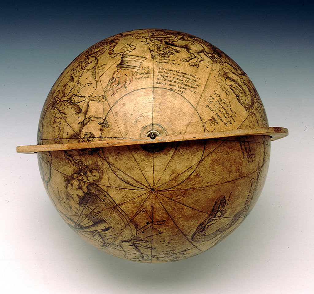 Detail of Celestial table globe by Gemma Frisius