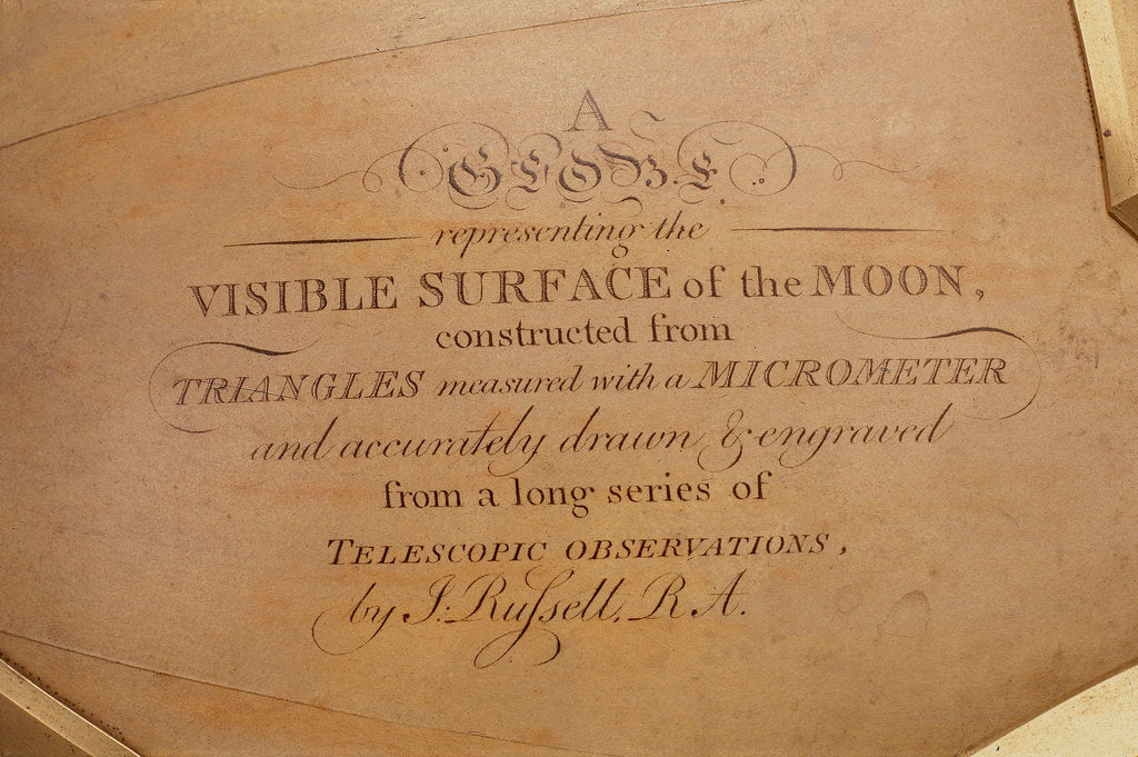 Detail of Explanatory text by John Russell