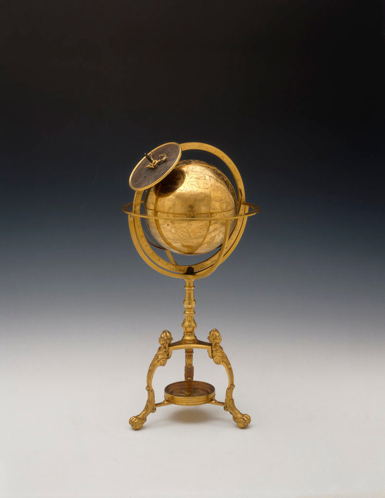 Detail of Celestial clockwork globe by Jean Baptiste Cattin