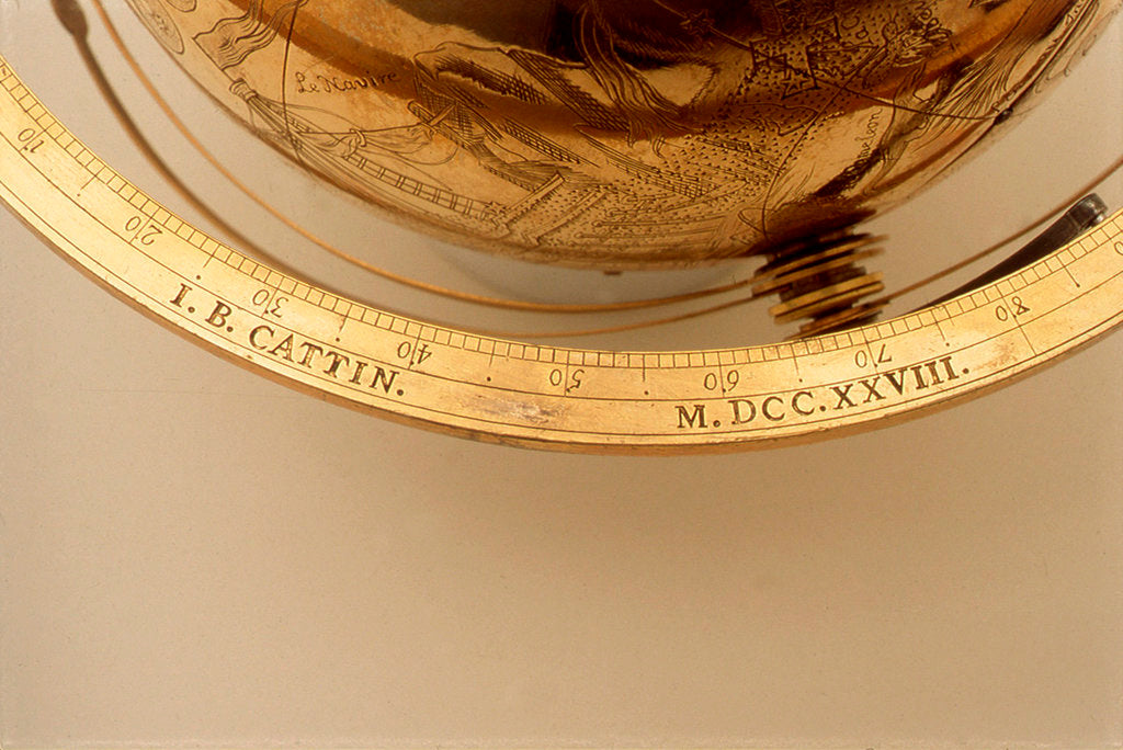 Detail of Inscription on meridian ring by Jean Baptiste Cattin