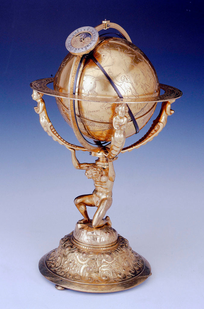 Detail of Celestial clockwork globe by Isaac Habrecht II