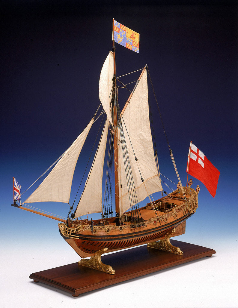 Detail of Skeleton model, royal yacht, port by unknown
