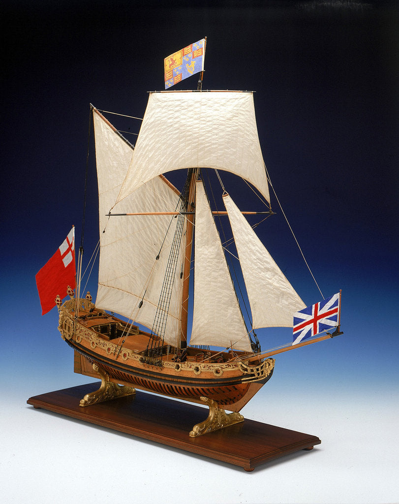 Detail of Skeleton model, royal yacht, starboard by unknown