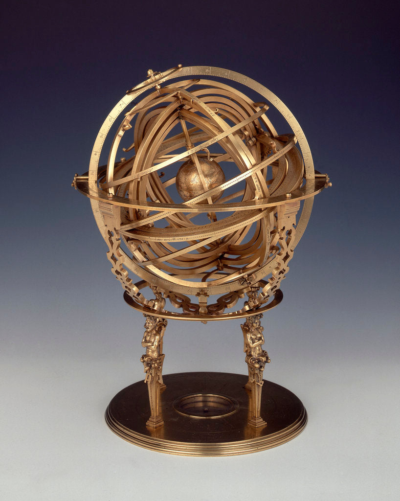 Detail of Armillary sphere by Gualterus Arsenius
