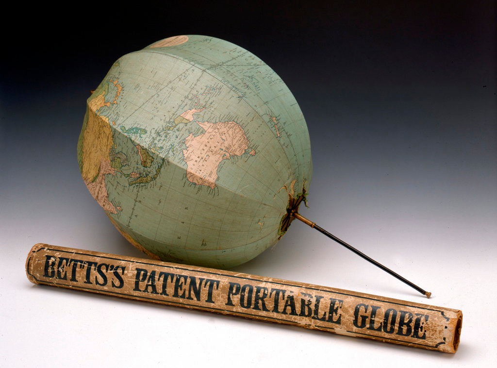 Detail of Assembled globe and box by George Philip & Son