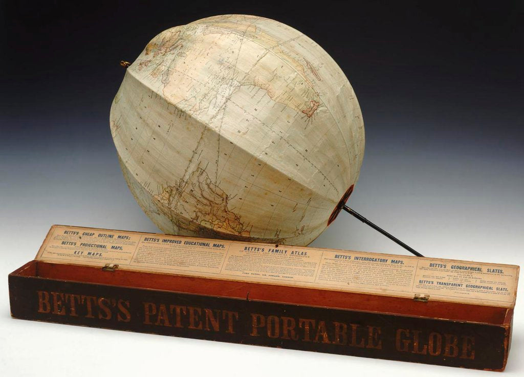 Detail of Assembled globe and box by John Betts
