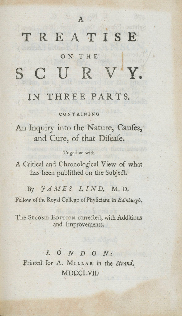 Detail of 'A Treatise on the Scurvy' frontispiece by unknown
