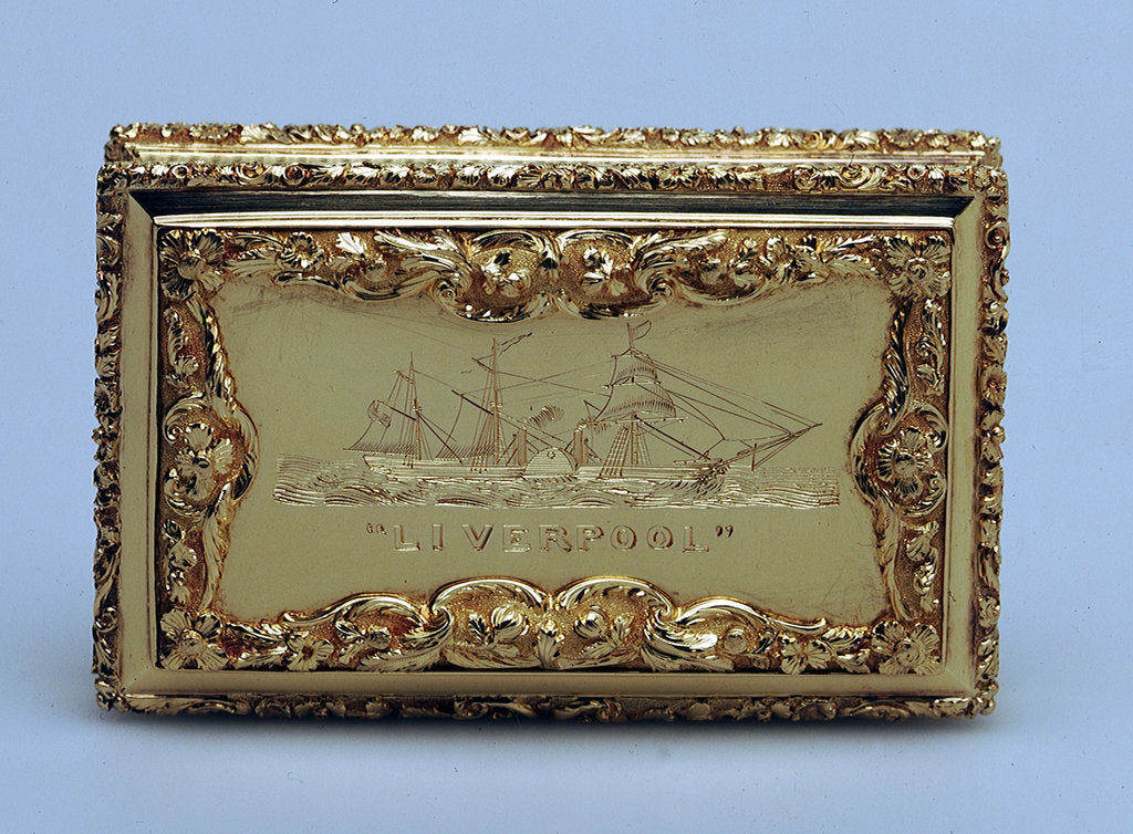Detail of Snuffbox by Nathaniel Mills