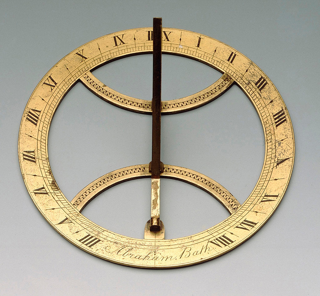 Detail of Horizontal dial by Jacob Abraham