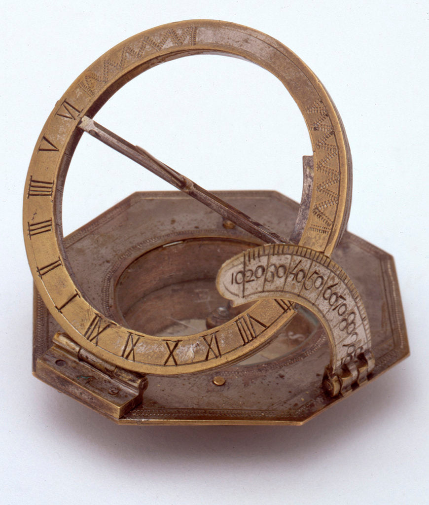 Detail of Augsburg dial by unknown