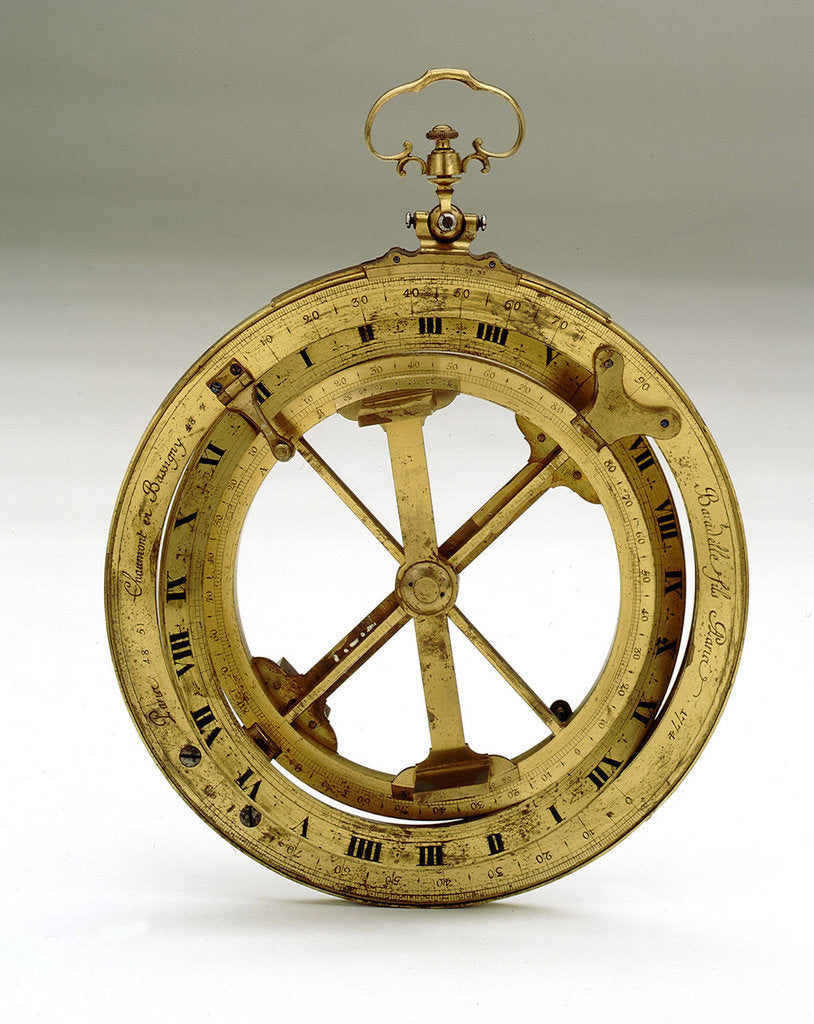Detail of Universal equinoctial ring dial by Nicolas-Eloi Baradelle