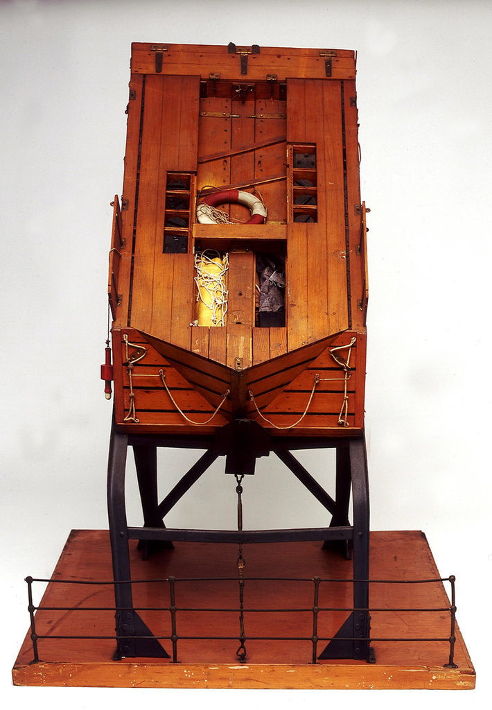 Detail of Full hull model, liferaft by unknown