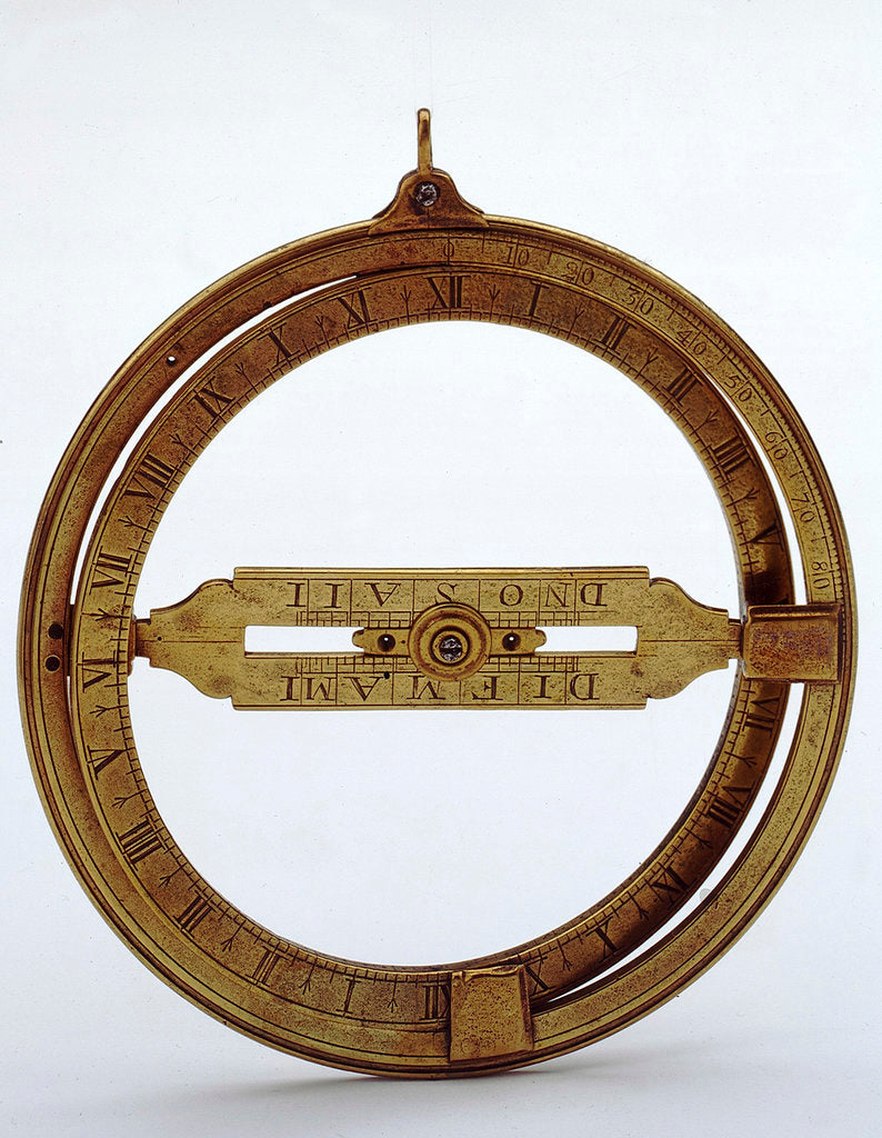 Detail of Universal equinoctial ring dial by unknown