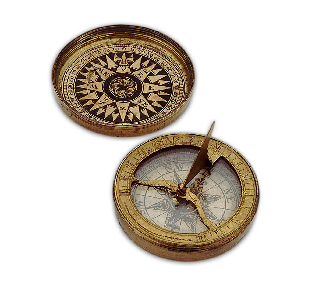 Detail of Compass dial, with lid by unknown