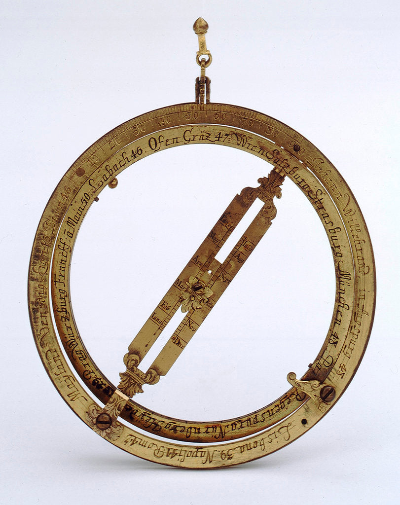 Detail of Universal equinoctial ring dial by Johann Matthias Willebrand