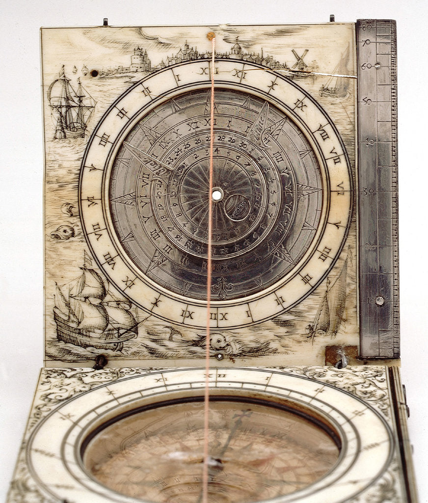 Detail of Diptych dial, leaves Ib and IIa by David Asselinne