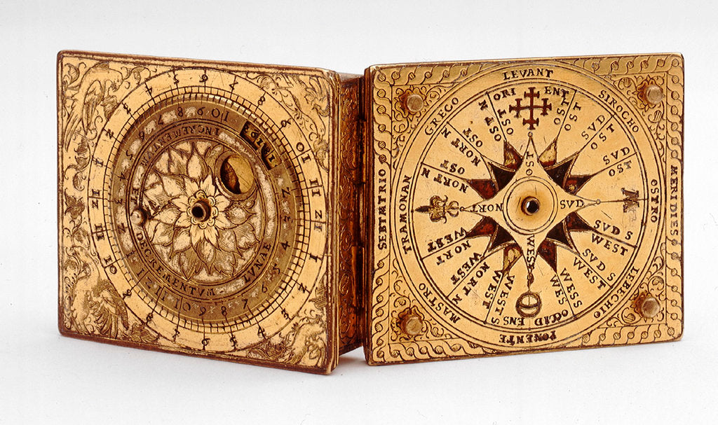 Detail of Astronomical compendium, outside of lid and base by Ulrich Klieber
