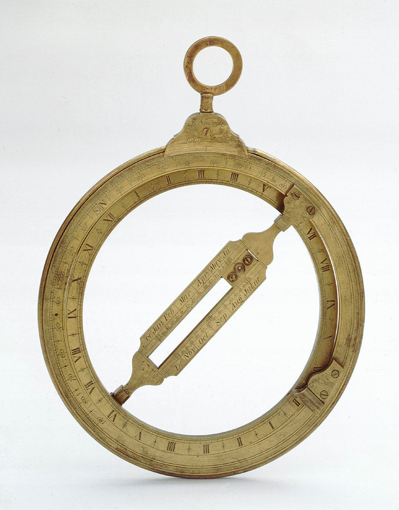 Detail of Universal equinoctial ring dial by John Frederick Newman
