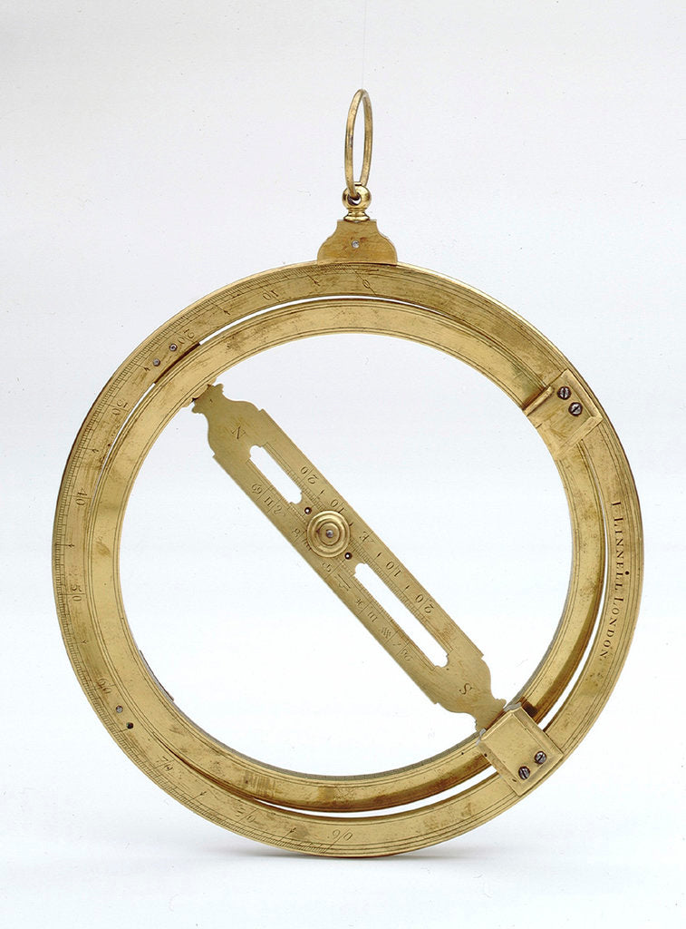 Detail of Universal equinoctial ring dial by Joseph Linnell
