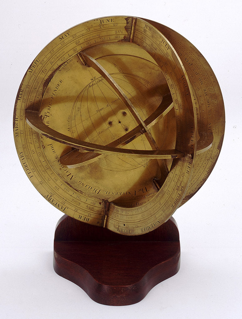 Detail of Universal equinoctial dial and armillary trigonometer by James Ferguson