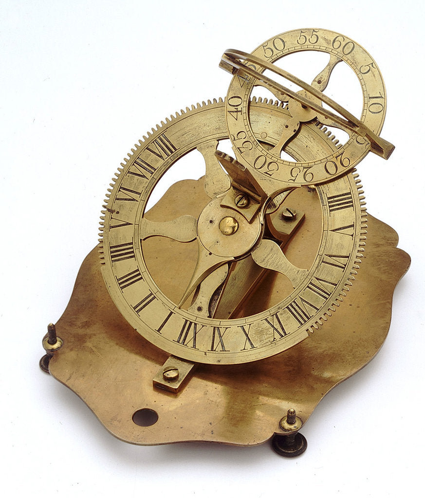 Detail of Mechanical equinoctial dial by unknown