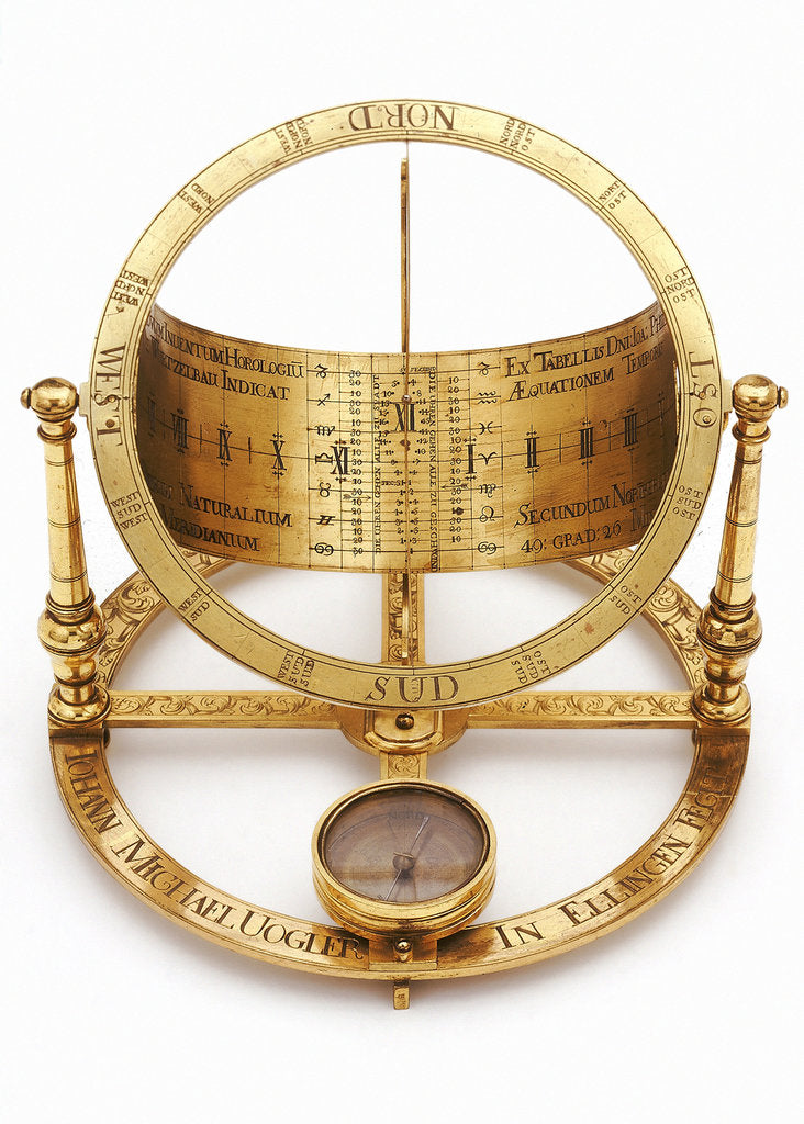 Detail of Equinoctial dial by Johann Michael Vogler