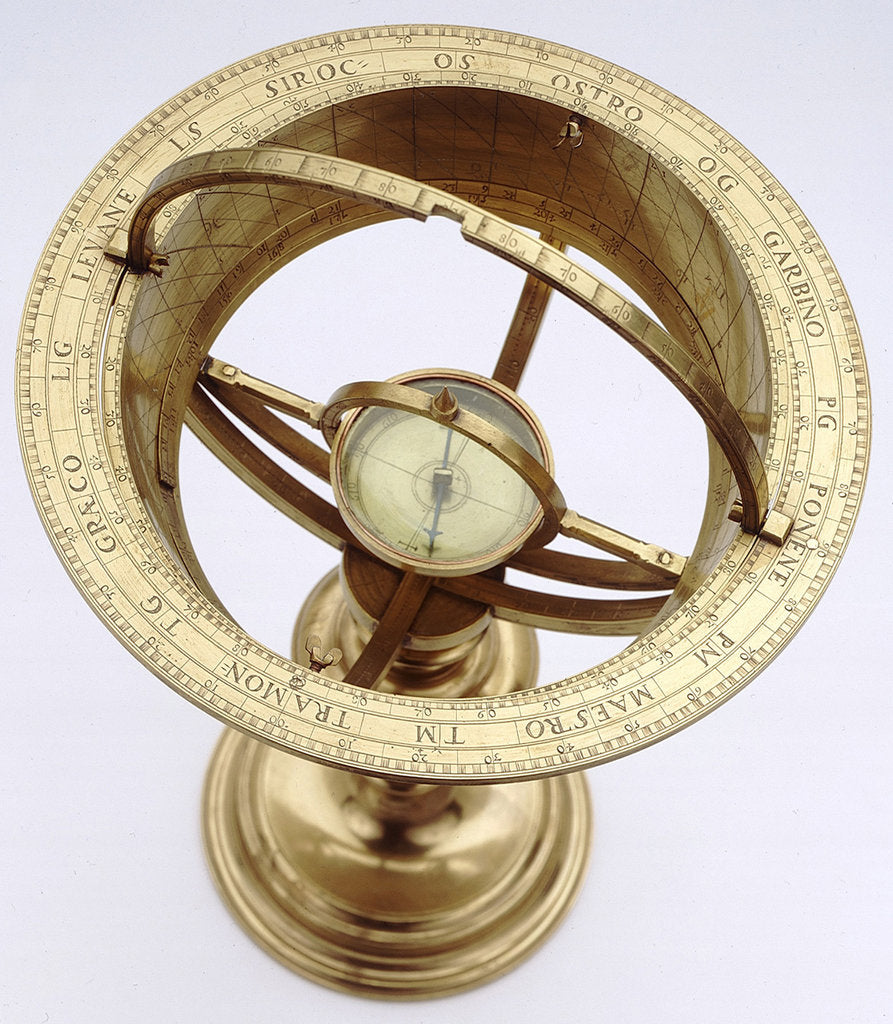 Detail of Universal equinoctial scaphe dial by unknown