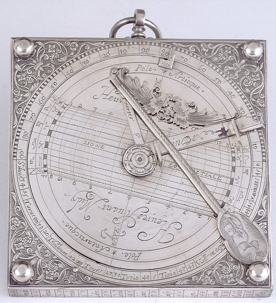 Detail of Equinoctial dial by Antoine Ferrier