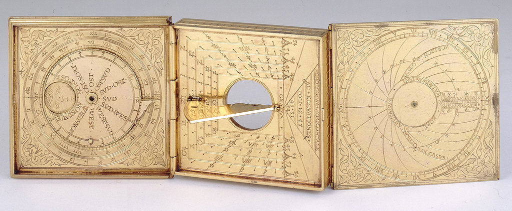 Detail of Astronomical compendium, leaves Ib, IIa and IIIb by Christoph Schissler