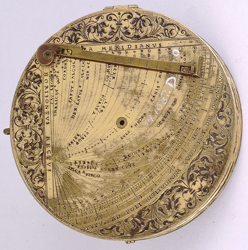 Detail of Astronomical compendium, leaf Ia by Christoph Schissler