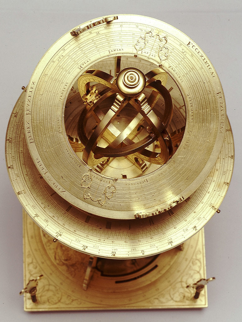 Detail of Universal equinoctial armillary dial by Mathias Hauser