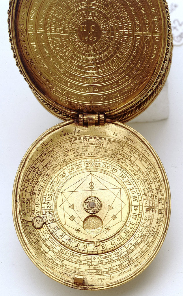 Detail of Astronomical compendium, leaves IIa and Ib by Humphrey Cole