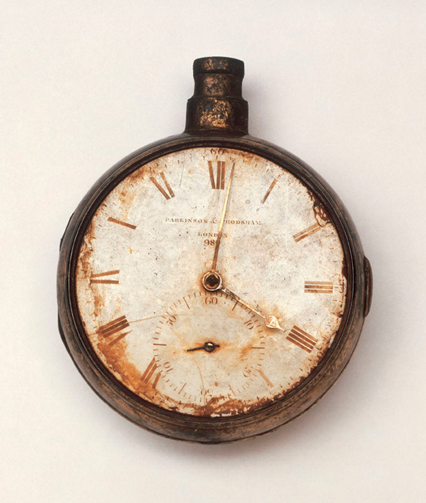 Detail of Pocket chronometer from the Franklin expedition by Parkinson & Frodsham