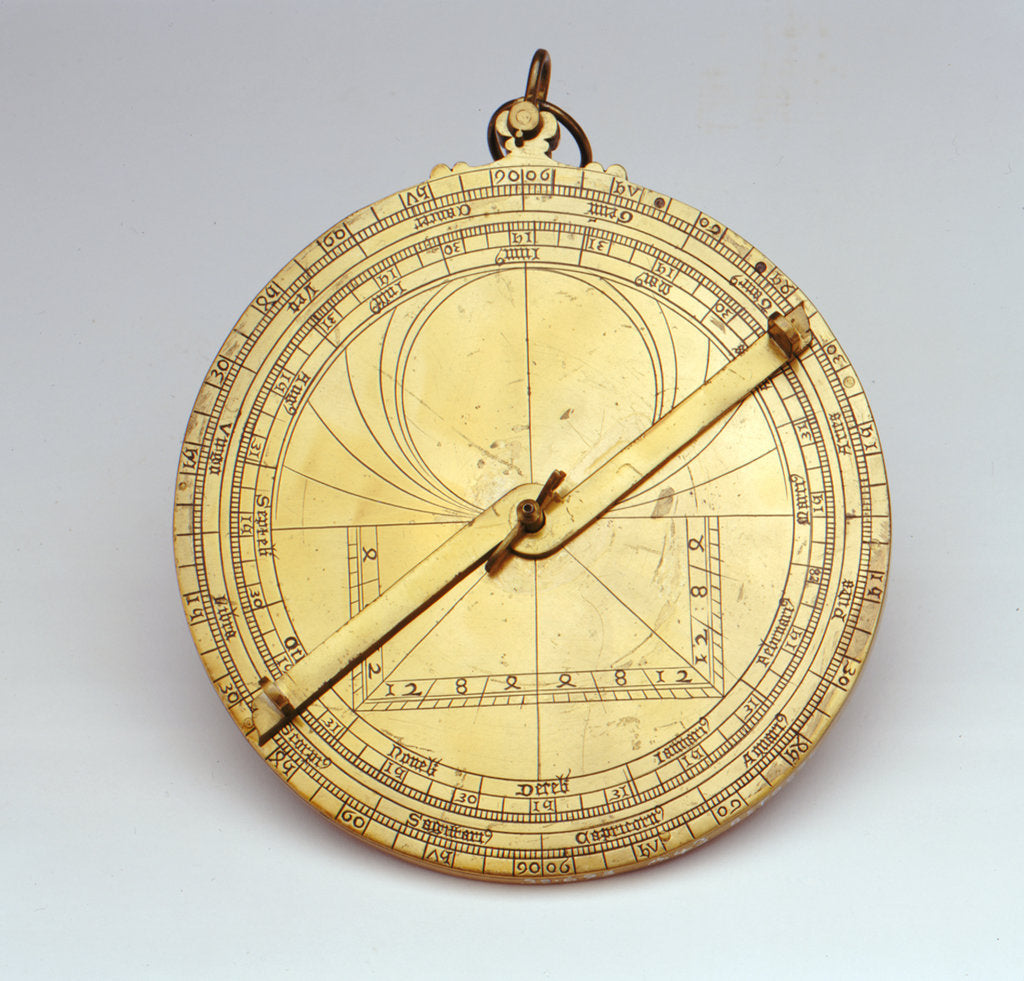 Detail of Astrolabe: obverse by unknown