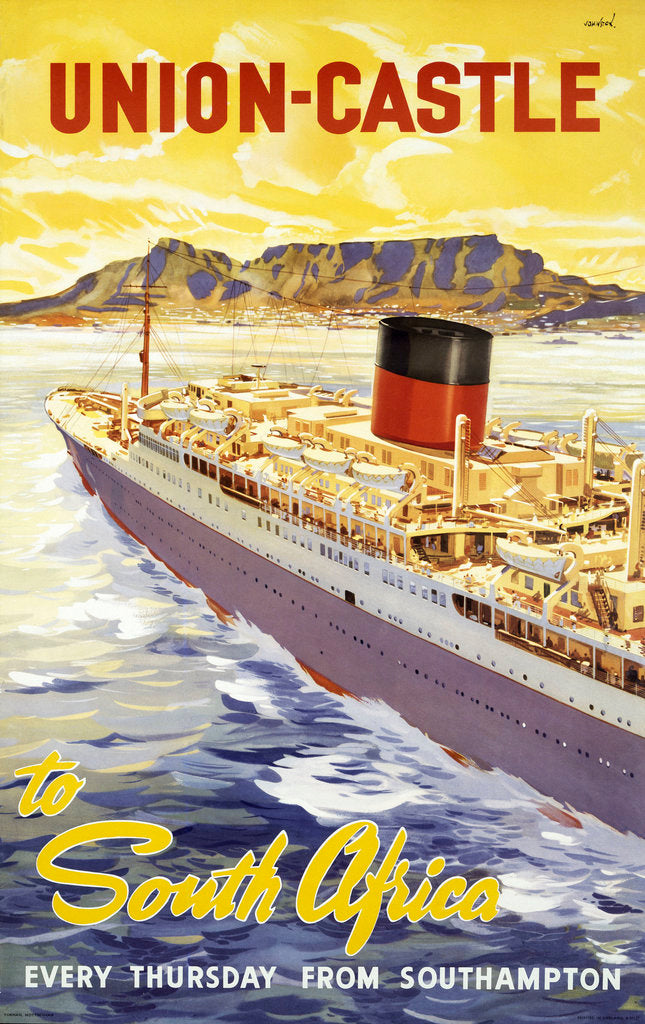 Detail of Union Castle Line Poster; South Africa by unknown
