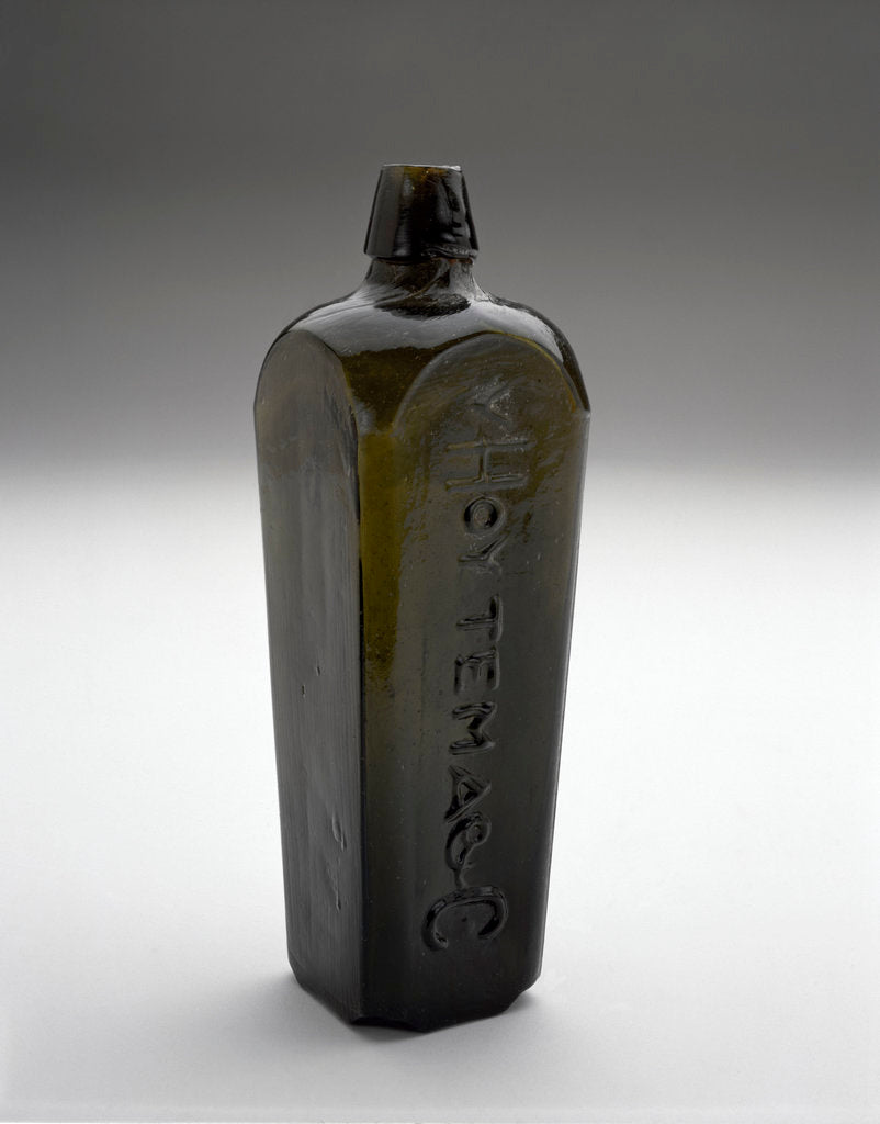 Detail of Gin bottle by Van Hoytema & Co.