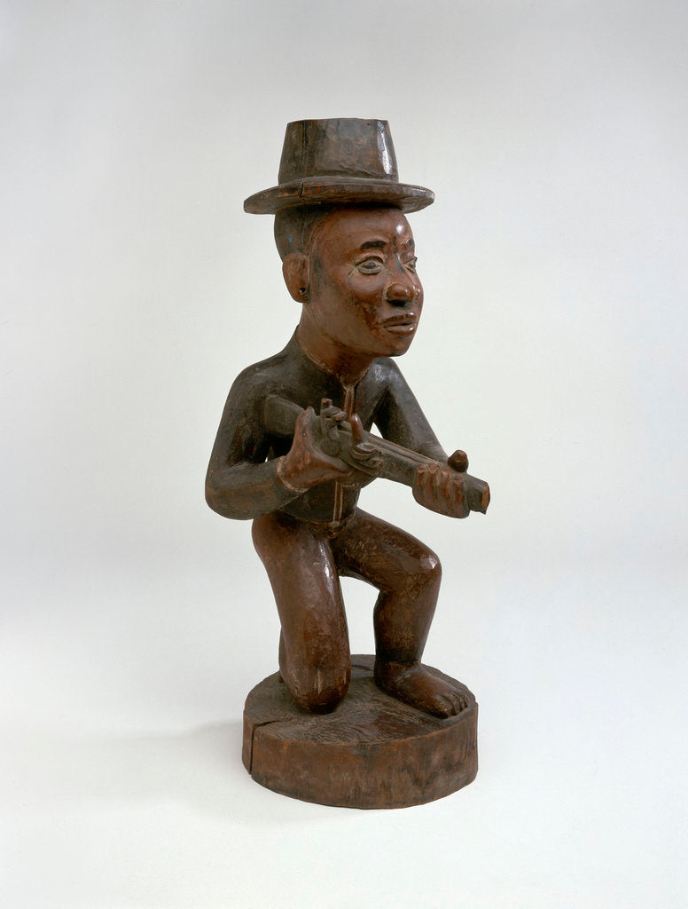 Detail of Carving of European sailor, Congo, mid 18th century. by unknown