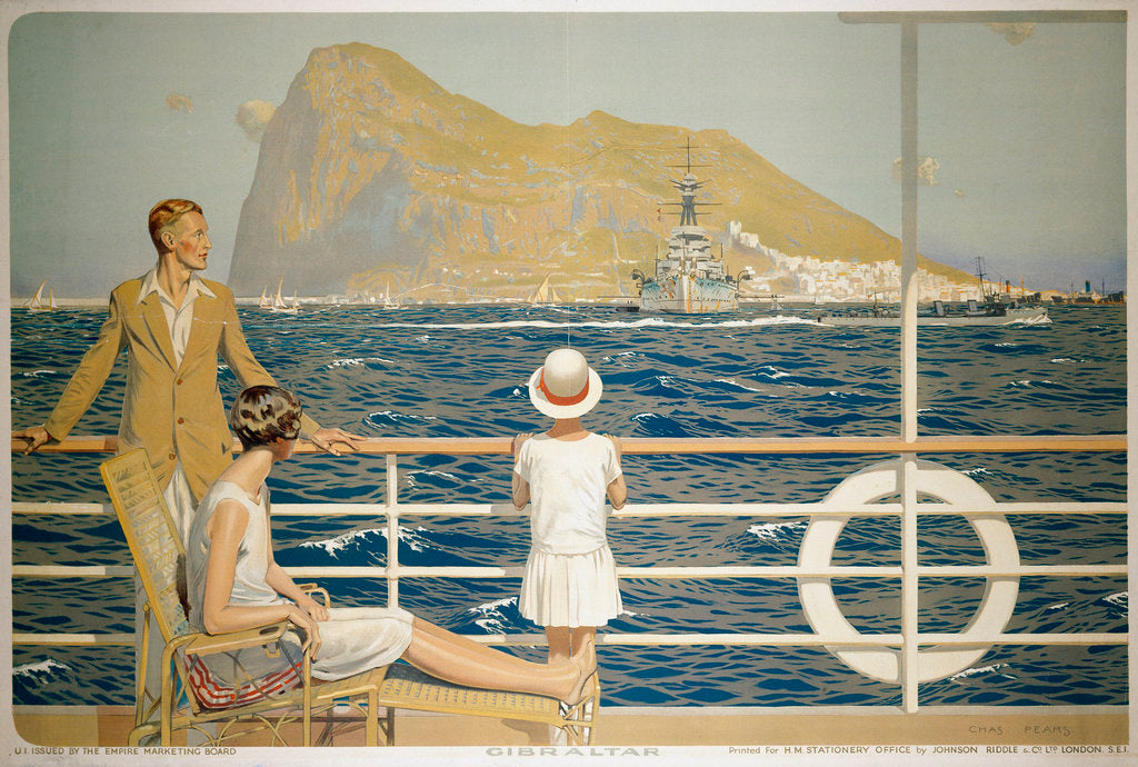 Detail of Gibraltar by Charles Pears