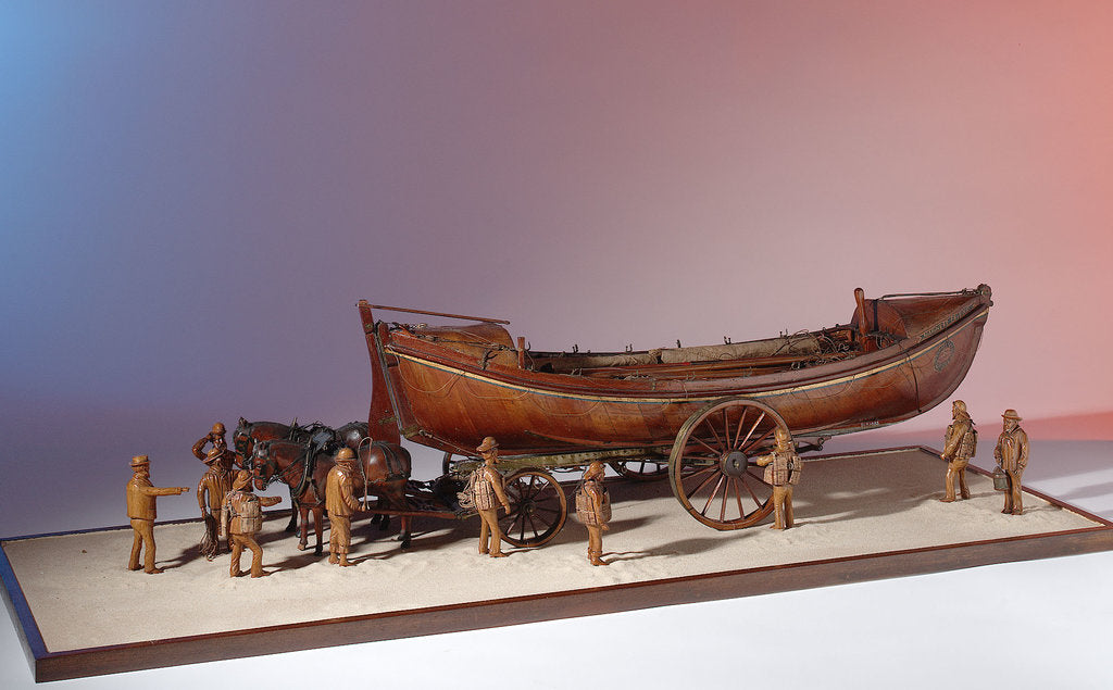 Detail of 'Mariner's Friend', scenic model with figures, horses and carriage by H. J. Pope