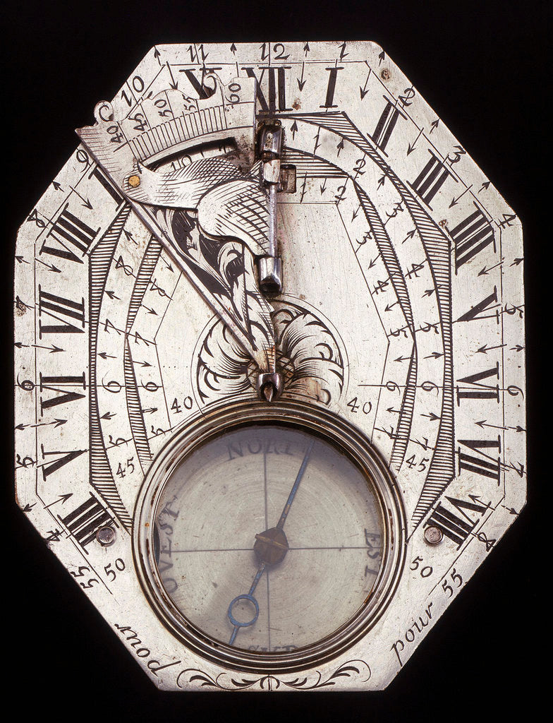 Detail of Butterfield dial by Pierre Sevin
