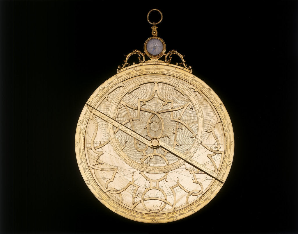 Detail of Astrolabe: mounted obverse by Erasmus Habermel