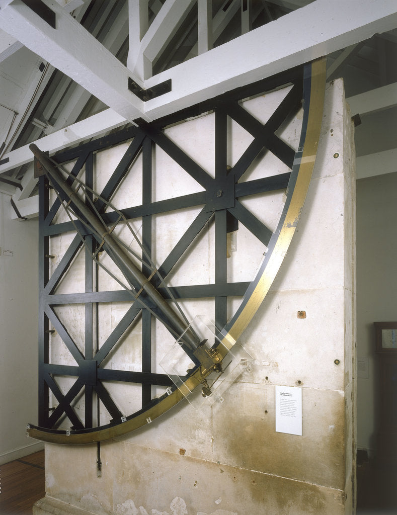 Detail of Zenith sector telescope by Edward Troughton