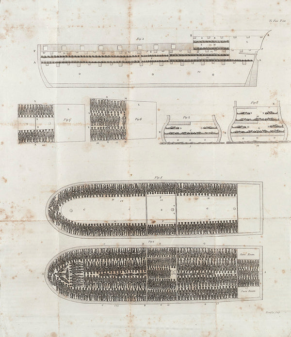 Plan of the slave ship 'Brooks'