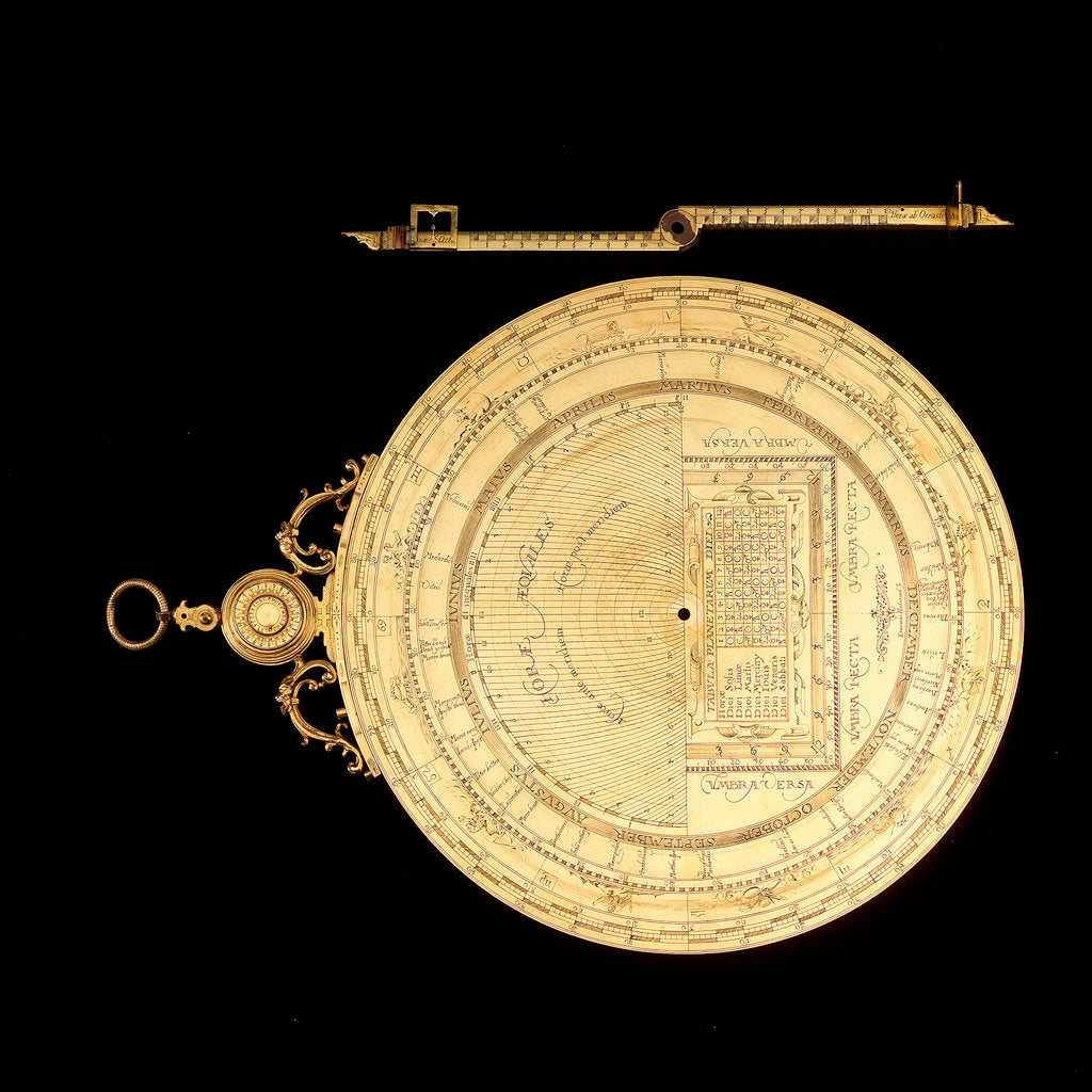 Detail of Astrolabe: dismounted reverse by Erasmus Habermel