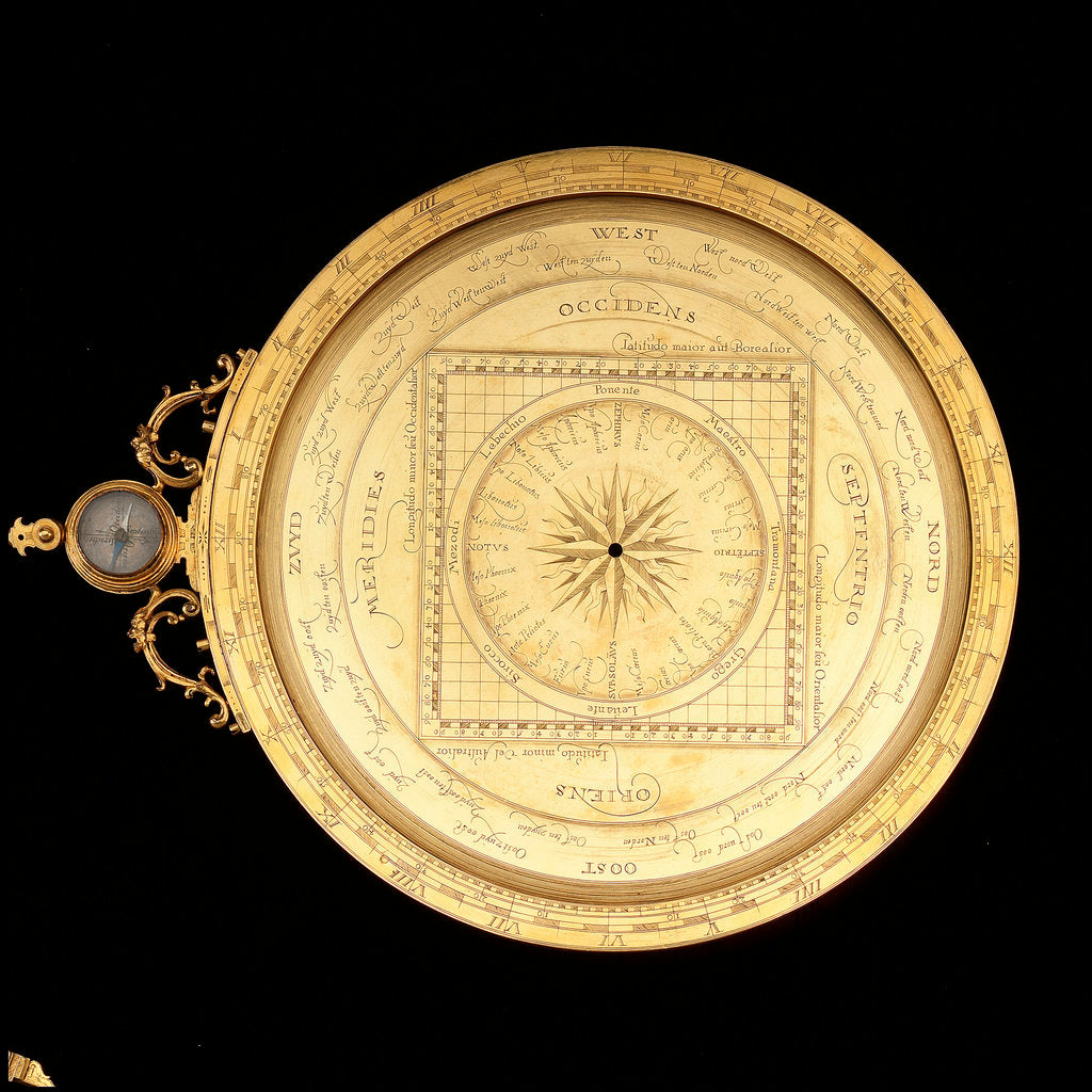Detail of Astrolabe: dismounted obverse by Erasmus Habermel