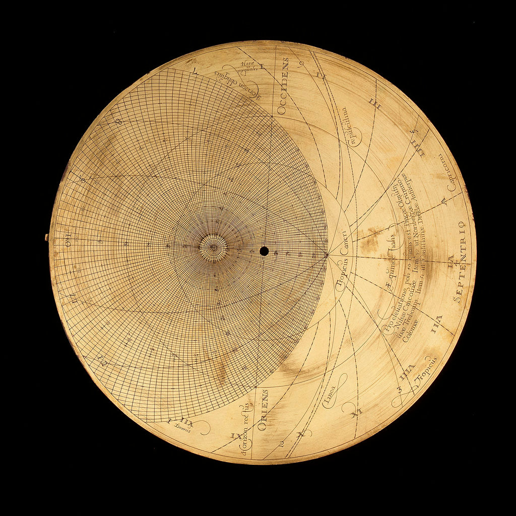 Detail of Astrolabe: plate for 50 by Erasmus Habermel