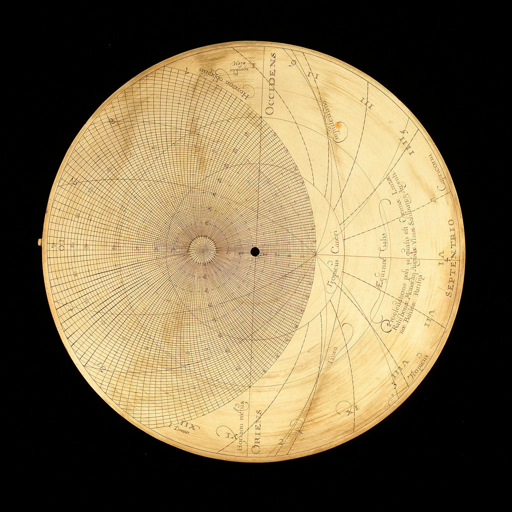 Detail of Astrolabe: plate for 48 by Erasmus Habermel