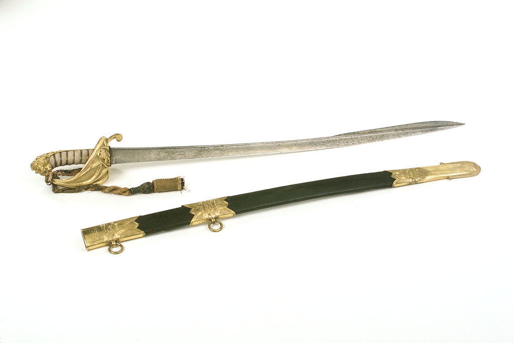 Detail of Solid half-basket hilted sword by Prosser