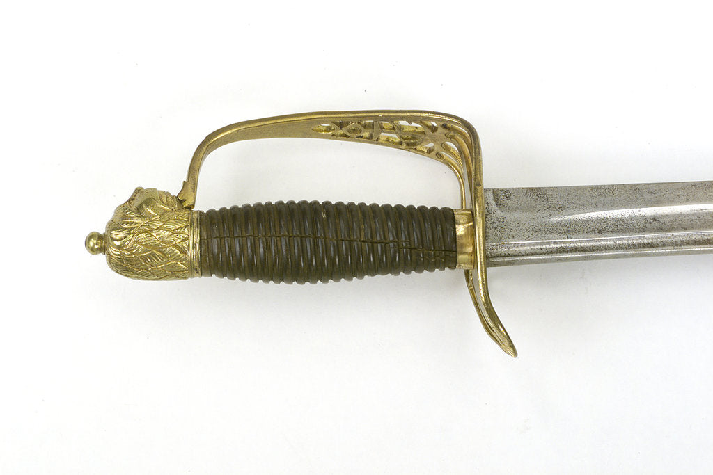 Detail of Slotted hilted sword by unknown